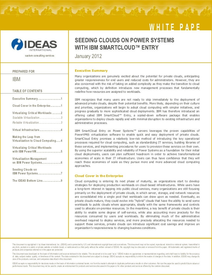 WHITE PAPER                                                                              SEEDING CLOUDS ON POWER SYSTEMS  ...