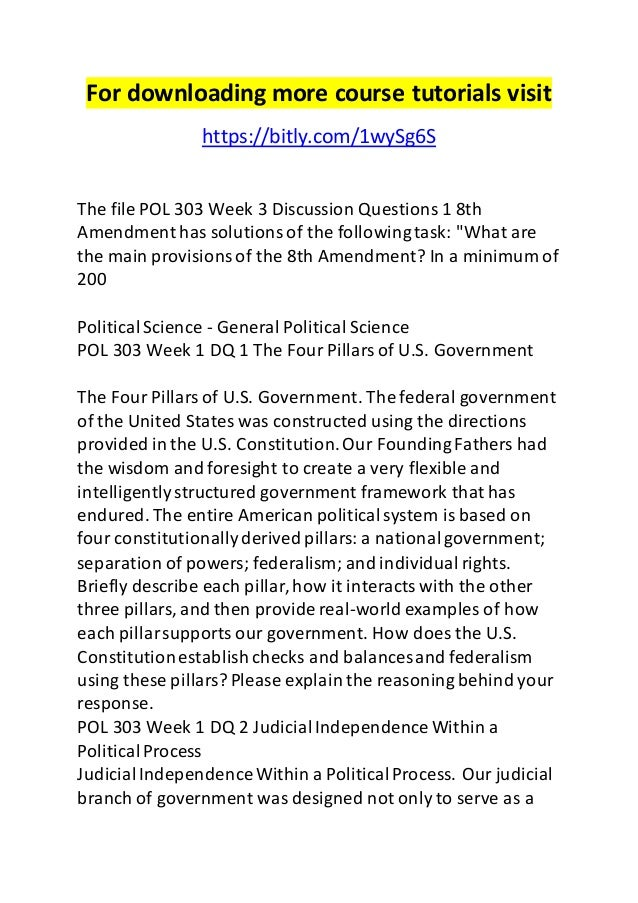pol 303 Ashford pol 303 entire course the american constitution | see more ideas about ashford university, devry university and alternative.