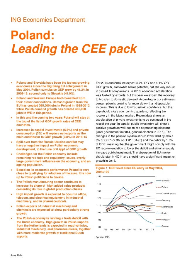 ING Economics Department Poland: Leading the CEE pack June 2014  Poland and Slovakia have been the fastest-growing econom...