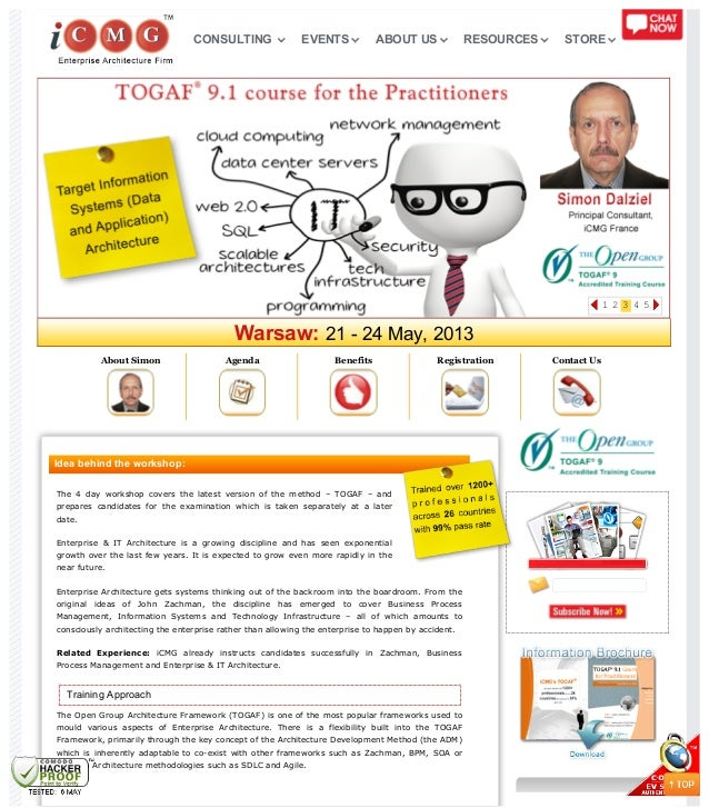 Warsaw: 21 - 24 May, 2013About Simon Agenda Benefits Registration Contact UsIdea behind the workshop:The 4 day workshop co...