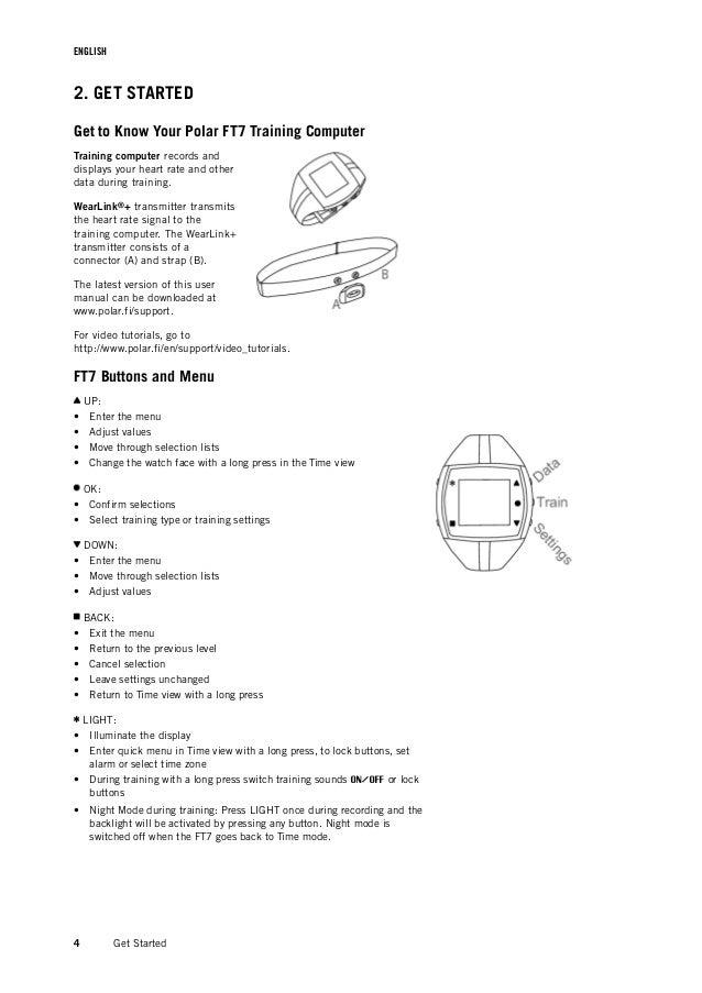 Polar ft7 инструкция на русском языке