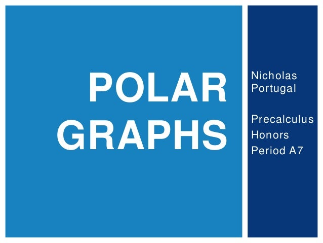 Nicholas Portugal Precalculus Honors Period A7 POLAR GRAPHS
