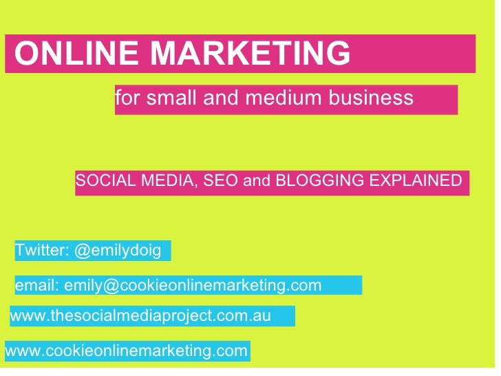 ONLINE MARKETING  ONLINE MARKETING              for small and medium business           SOCIAL MEDIA, SEO and BLOGGING EXP...