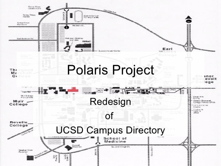 Polaris Project Redesign of  UCSD Campus Directory
