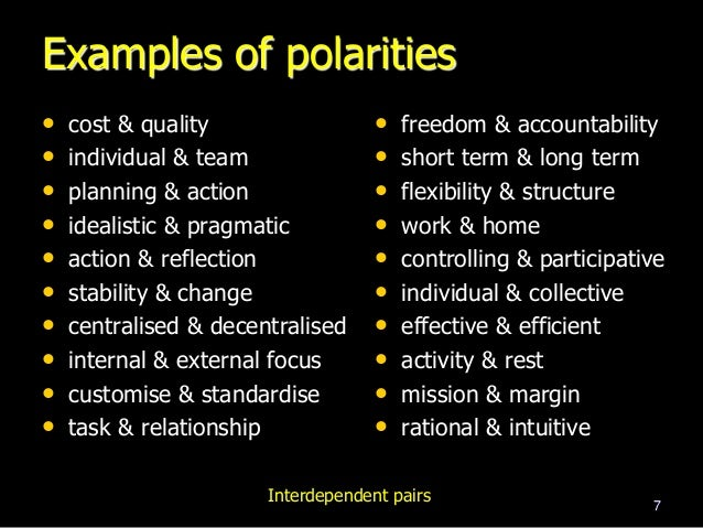 Leading In Paradox An Introduction To Polarities