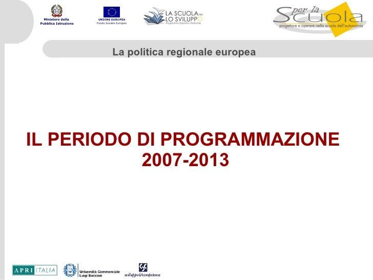 Politiche di Coesione UE Progetto Perla-Scuola