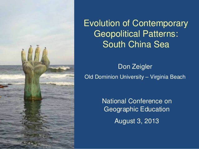South China Sea NCGE 2013 Don Zeigler
