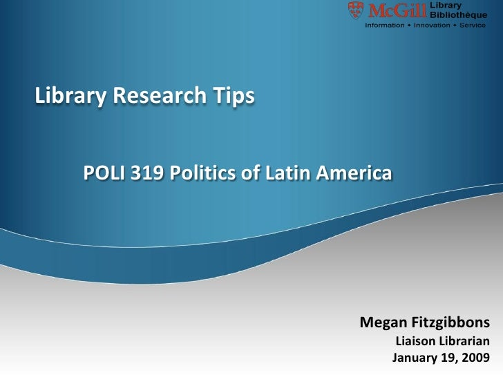 POLI319 Research Tips