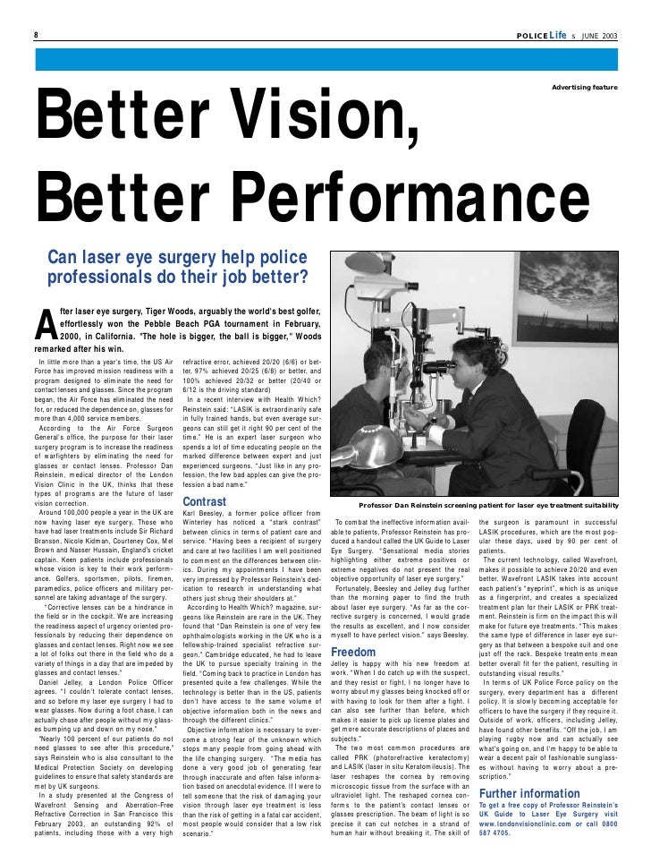 article about laser eye surgery