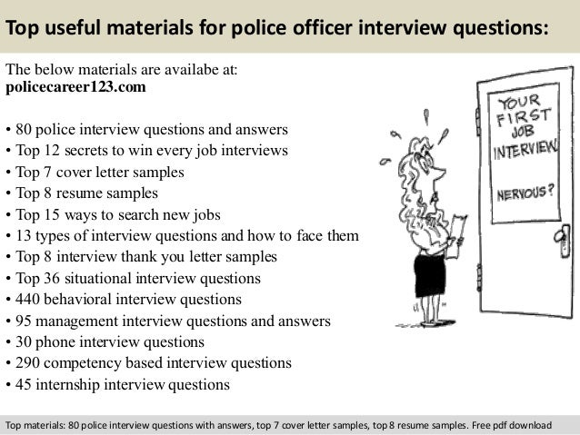 interviewing a police officer for an interview essay