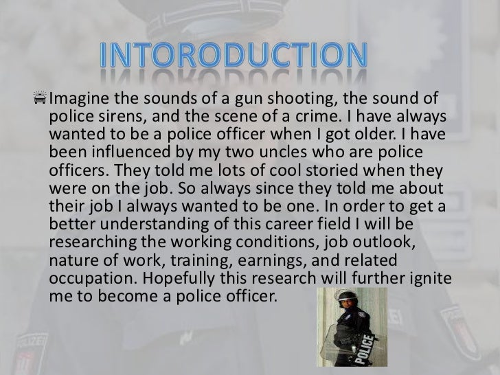 essay on why become a police officer