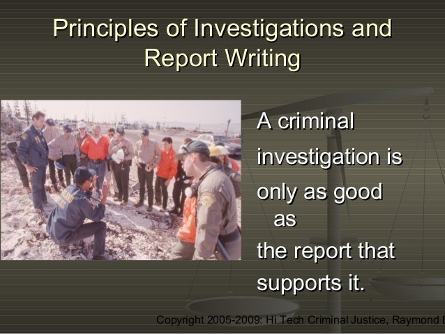 report writing police