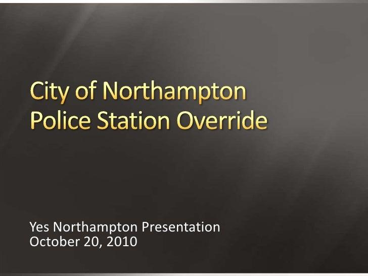 Police Station Tax Override Presentation 10-20-2010