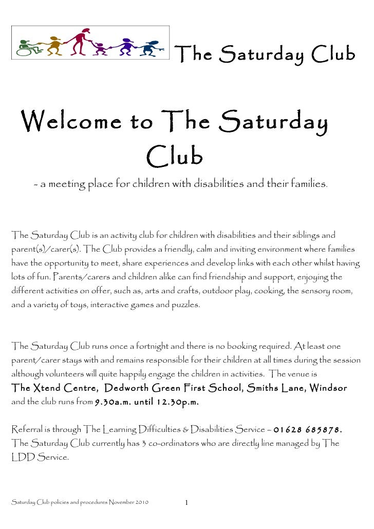The Saturday Club   Welcome to The Saturday                                                  Club        - a meeting place...