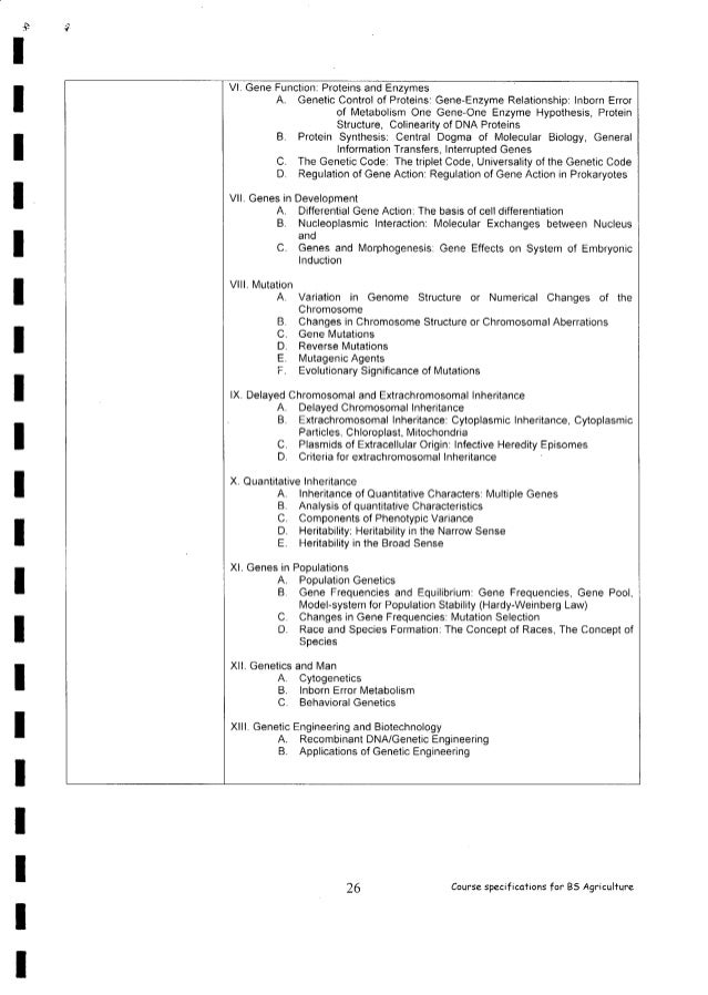 Policies And Standards For Bachelor Of Science In