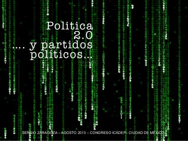 """Curso Distrito Federal """"Política 2.0: gobierno, partidos y sociedad"""""""