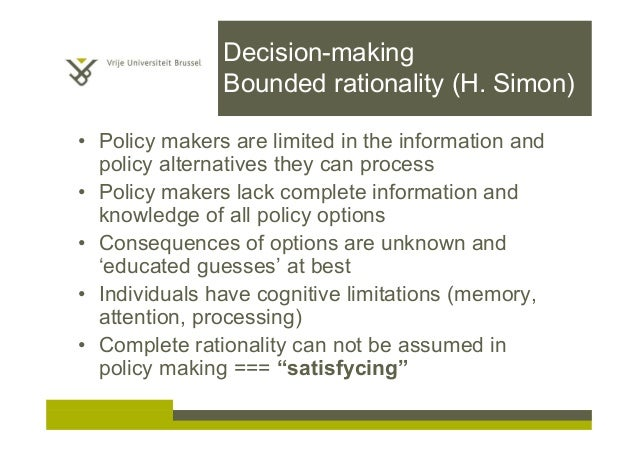 a analysis of rational decision making Take the overwhelming factor out of decision making with when you're making a decision that involves use decision matrix analysis to compare them.