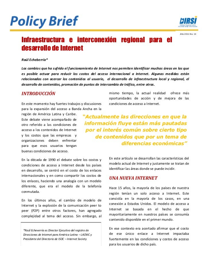 Policy brief 13   infraestructura de interconexión de internet