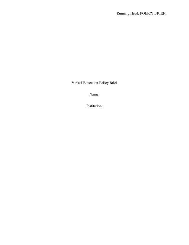 Policy Brief _Virtual Education