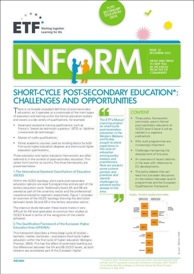 Policy briefing: Short-cycle post-secondary education