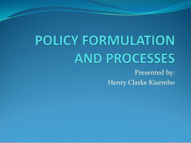 Presented by:Henry Clarke Kisembo