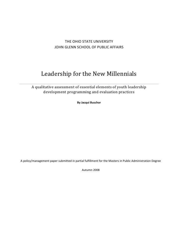 Leadership for the New Millennials