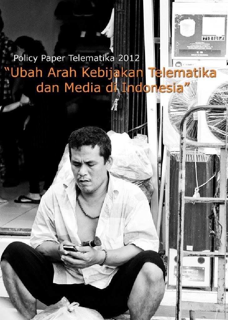 I. PendahuluanI.1. Konglomerasi dan Konvergensi Media     Teknologi telekomunikasi dan informatika (telematika)begitu pes...