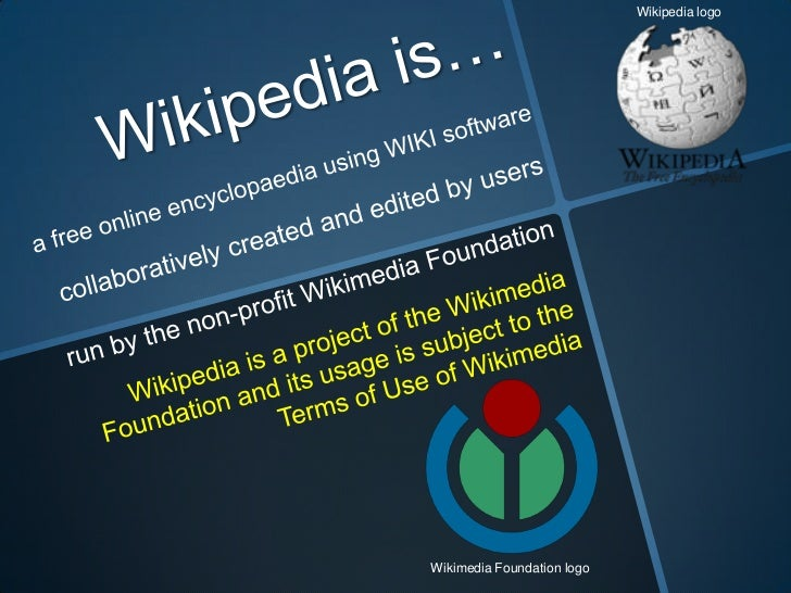 Wikipedia logoWikimedia Foundation logo