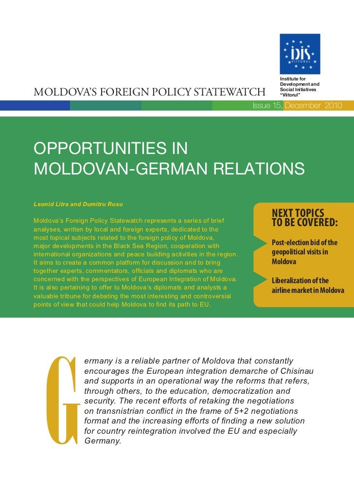 Institute for                                                                                  Development andMoldova's Fo...