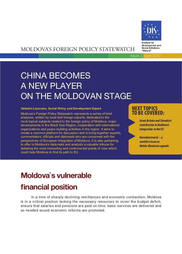 Institute for                                                                                Development andMoldova's Fore...