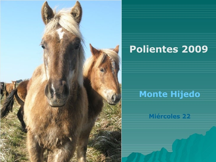 Polientes 2009 Monte Hijedo Miércoles 22