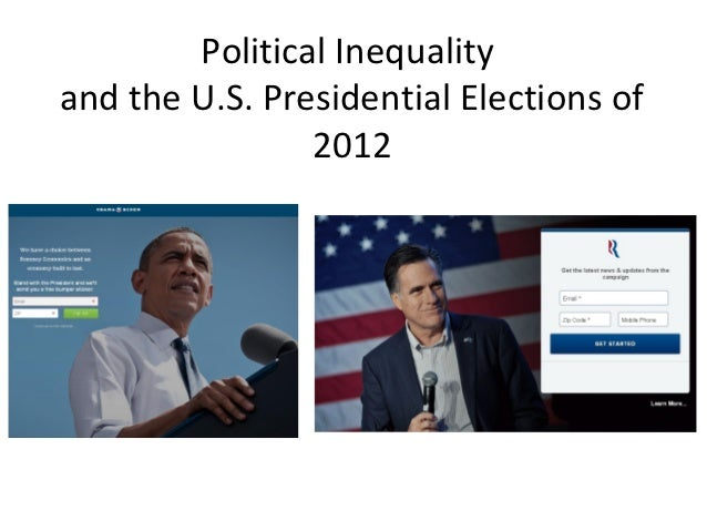 Political Inequalityand the U.S. Presidential Elections of                2012