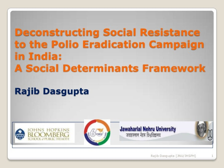 Deconstructing Social Resistance to the Polio Eradication Campaign in India: A Social Determinants FrameworkRajib Dasgupta...