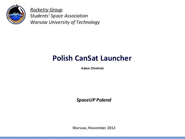 Polish CanSat Launcher