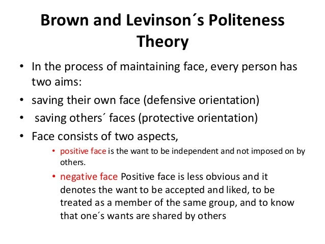 Brown and levinson politeness theory