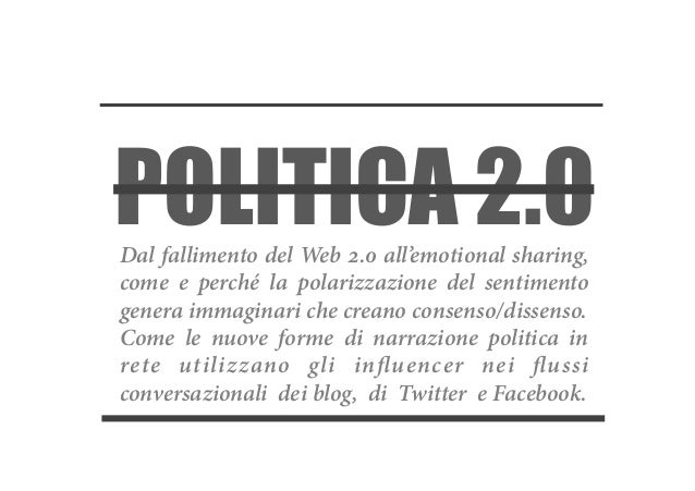 (La fine della) Politica 2.0