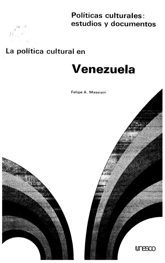 Políticas culturales : estudios y documentos