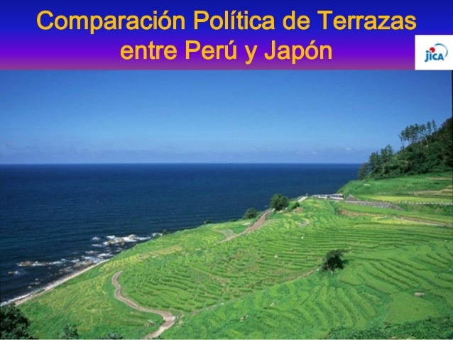 Comparación Política de Terrazas entre Perú y Japón