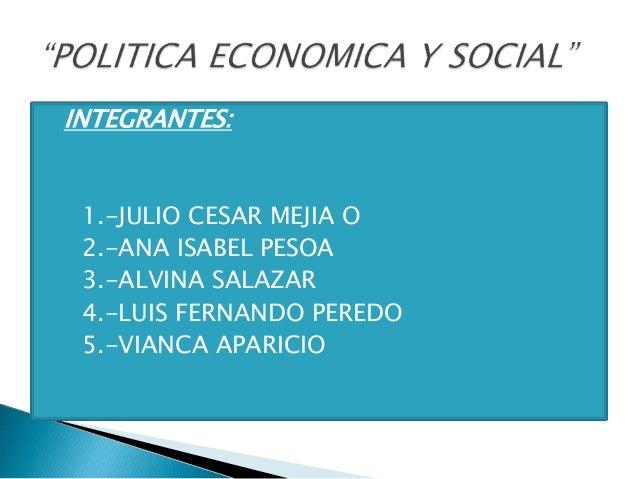 Politica economica y social