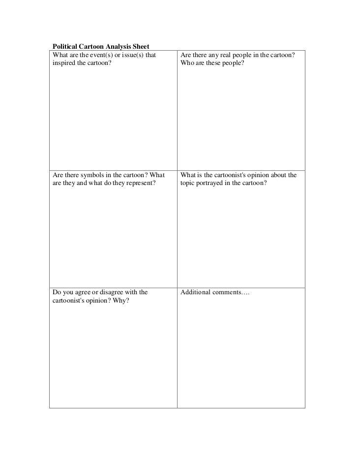 Political cartoon analysis sheet