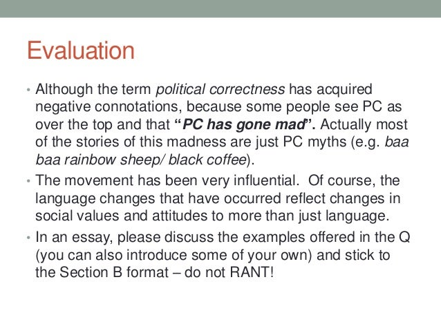 political correctness synthesis essay