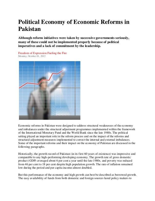 Political economy of economic reforms in pakistan