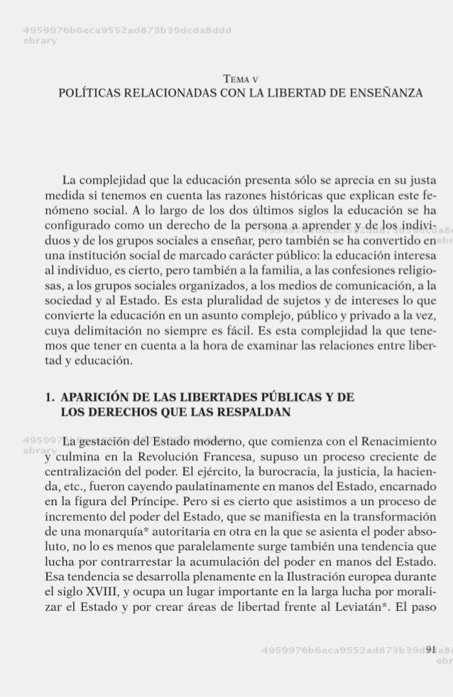 Politica legislacion y educacion temas 5 y6