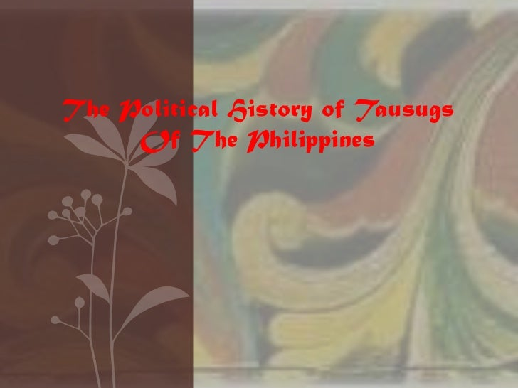 Political history of the tausug of the philiipines