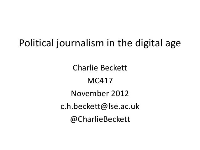 Political journalismlecture2013