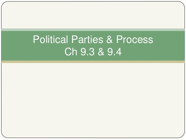 Political Parties & Process Ch 9.3 & 9.4