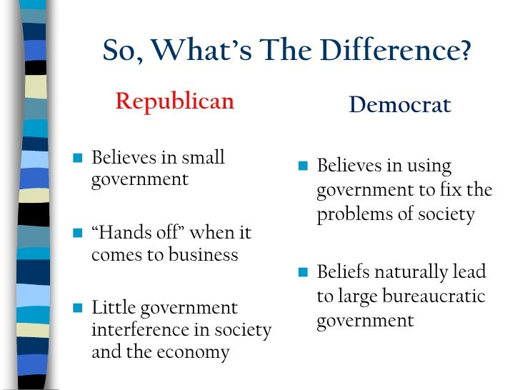 republicans and democrats similar differences