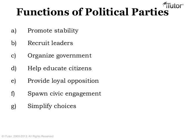 functions of political parties essay Function of political parties reading comprehension (sample is shown below) build 50+ printables from the word list customize printables - edit and save words and definitions quiz (includes vocabulary, quiz questions, and essay questions) custom quiz (pdf format) function of political parties.