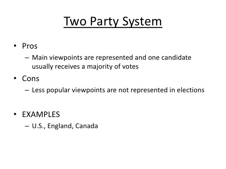 two party system in the philippines 1 the pros and cons of a two-party system rena silverman the challenge of running a competitive campaign for the us presidency is made easier by the existence of.