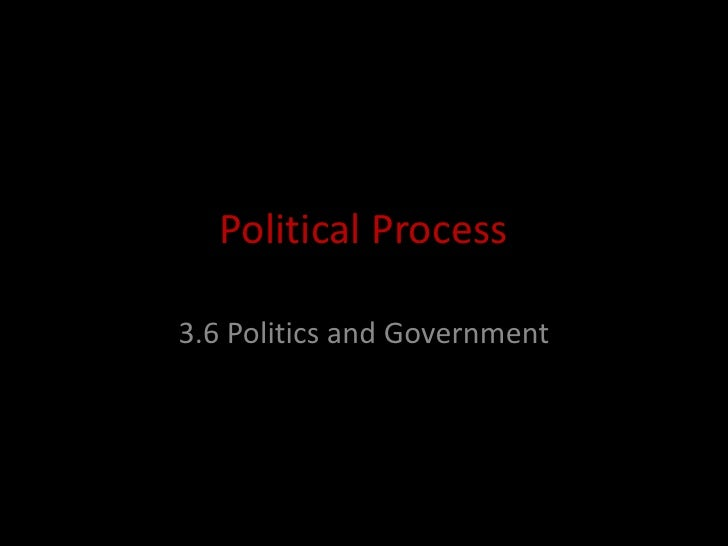 Political Process<br />3.6 Politics and Government<br />